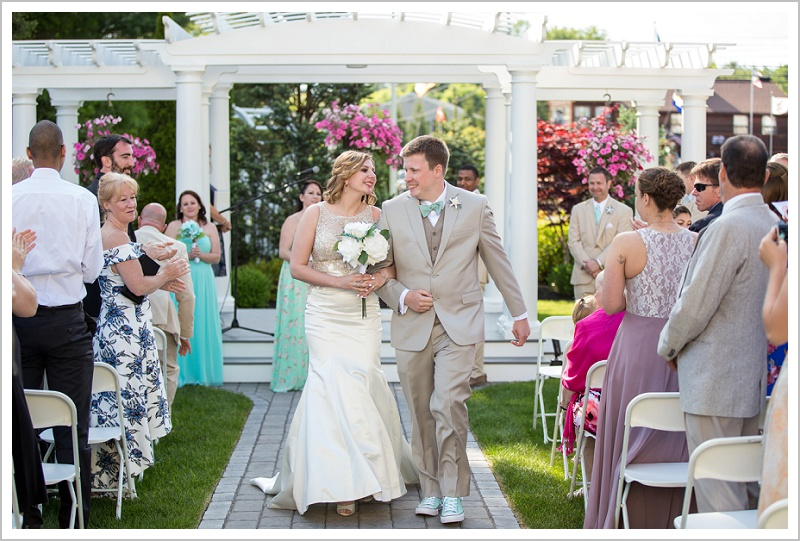 Just Married Joseph And Breanne S Village By The Sea Wedding