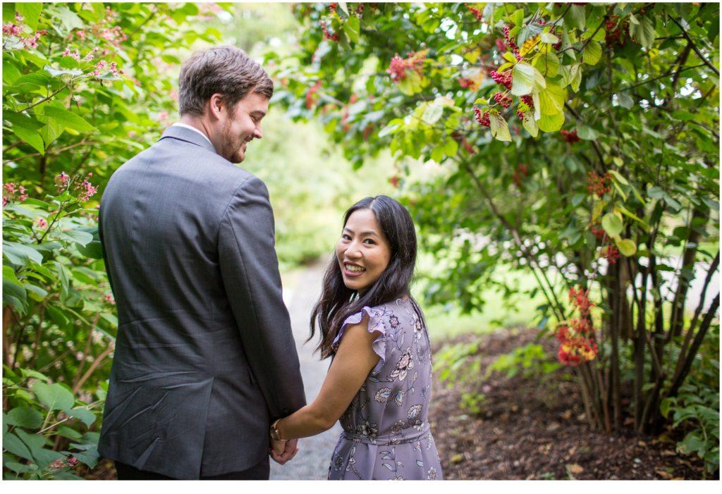 Nature photos at Jamaica Plain Arboretum| Will and Amanda surprise Boston elopement