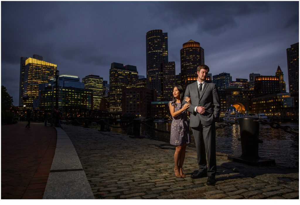Cityscape walk  | Will and Amanda surprise Boston elopement