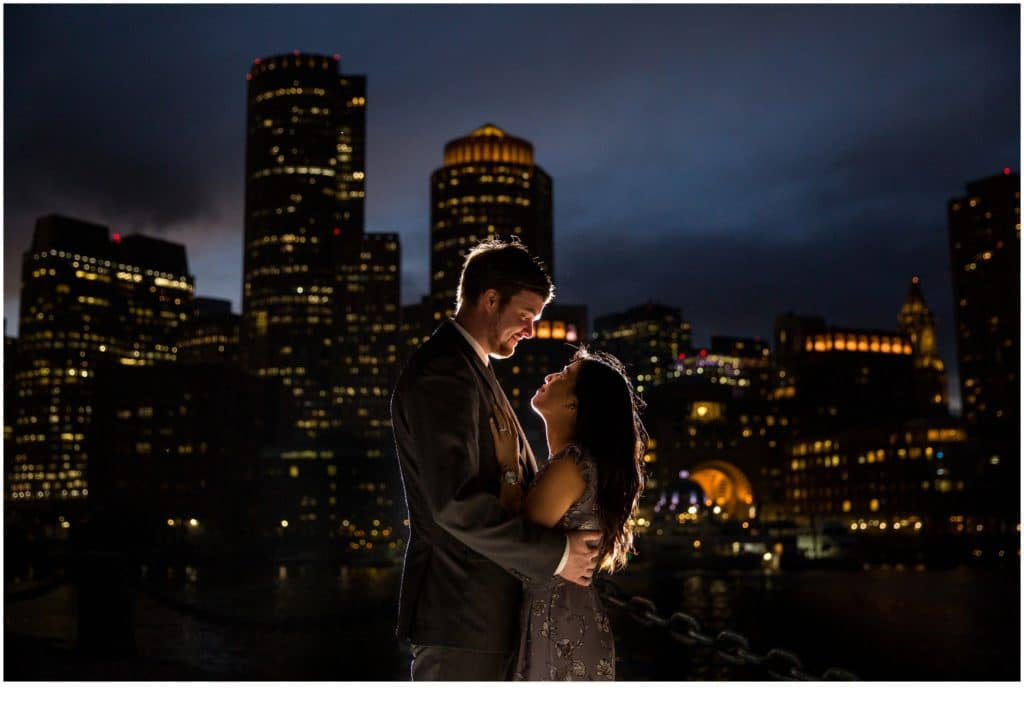 city lights  | Will and Amanda surprise Boston elopement