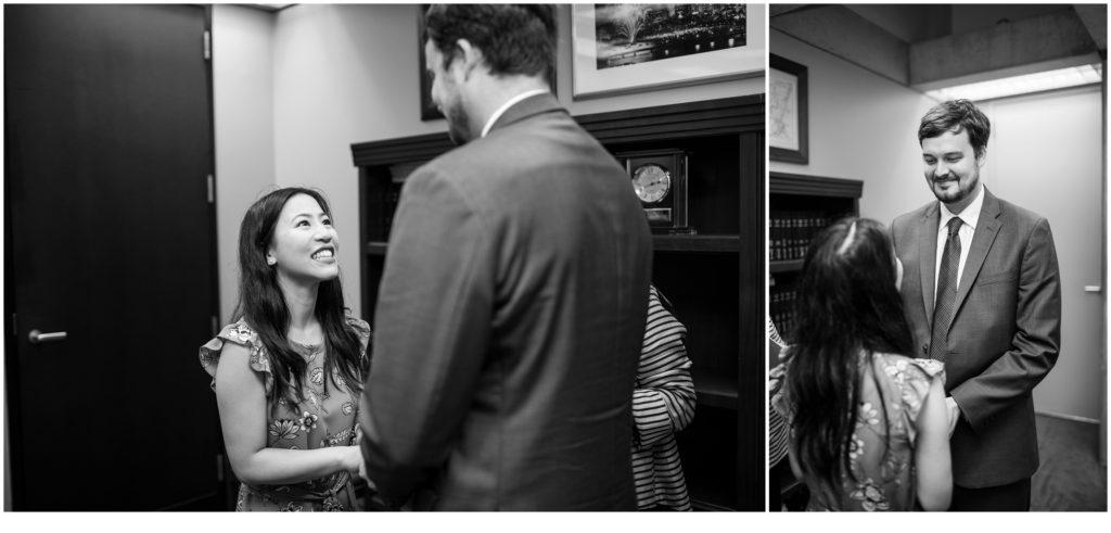 Ceremony at Boston City Hall | Will and Amanda surprise Boston elopement