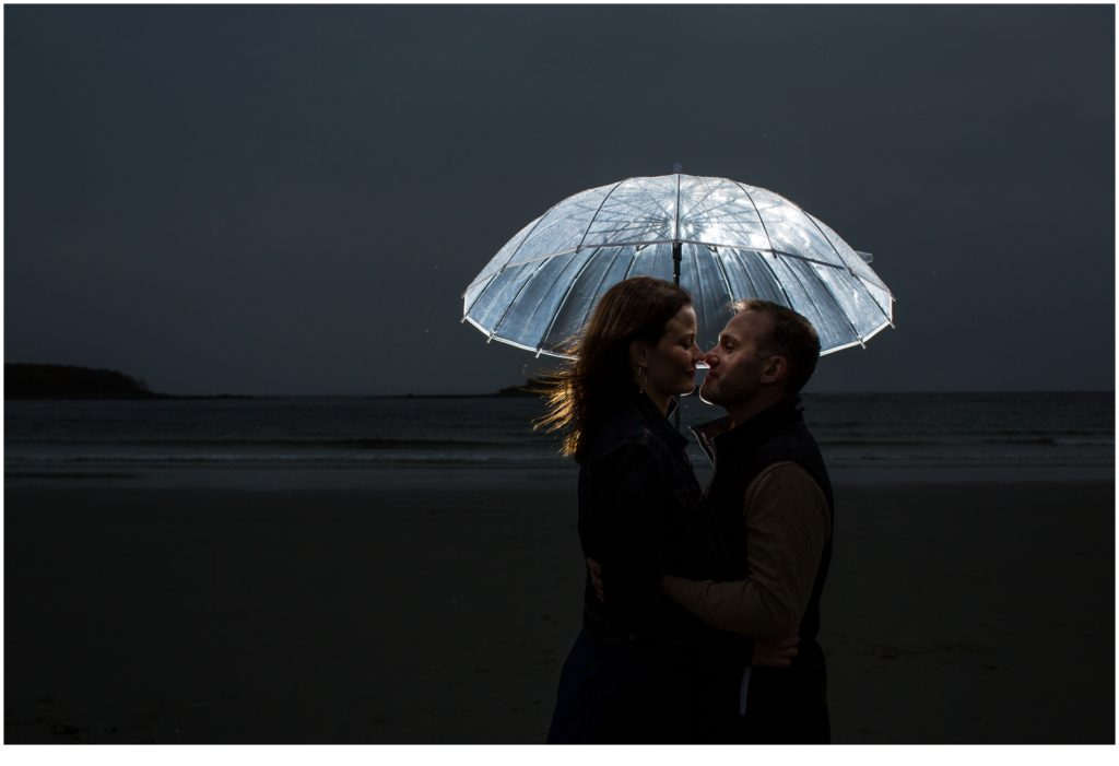 Caitlin and Matt during their engagement session at Goose Rocks Beach, Kennebunkport