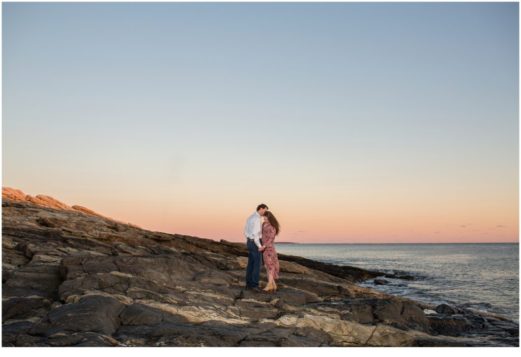 Emily and Justin Reid State Park Engagement
