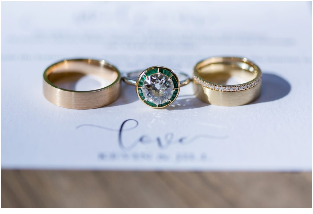 rings - Jill and Kevin's Intimate Wedding at Hidden Pond, Kennebunkport