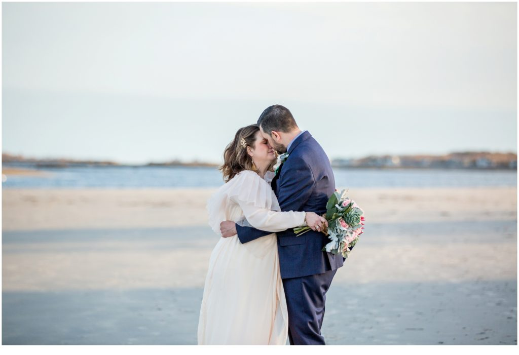 on the beach - Jill and Kevin's Intimate Wedding at Hidden Pond, Kennebunkport