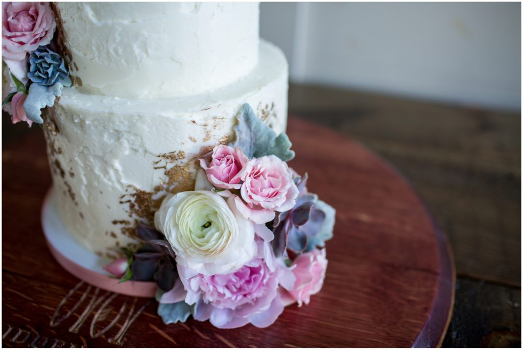 cake details- Jill and Kevin's Intimate Wedding at Hidden Pond, Kennebunkport