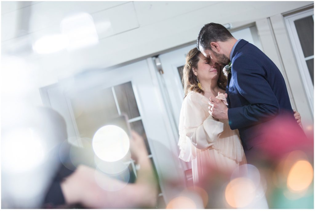 First Dance- Jill and Kevin's Intimate Wedding at Hidden Pond, Kennebunkport