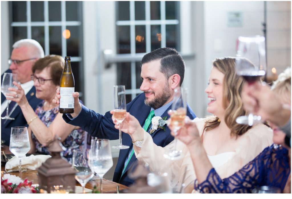toast - Jill and Kevin's Intimate Wedding at Hidden Pond, Kennebunkport