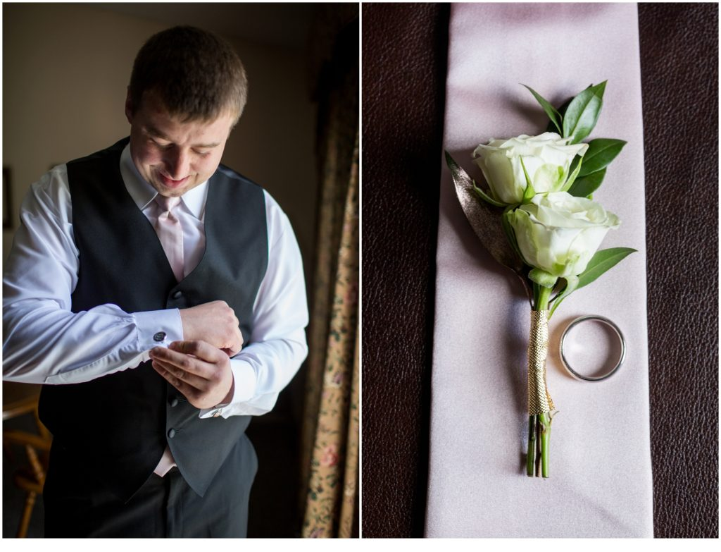 Groom and his details - sweet spring wedding than The Bethel Inn