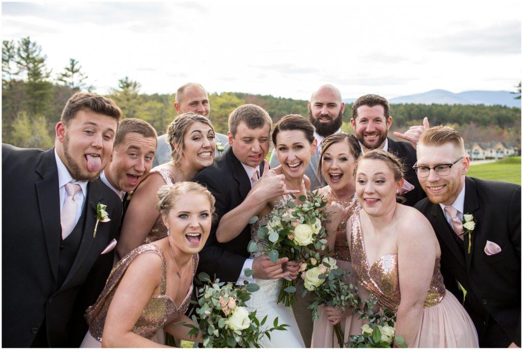 Bridal Party - sweet spring wedding than The Bethel Inn