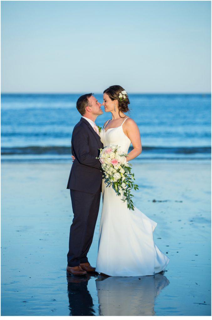 Matt and Cait's nautical, York Reading Room Wedding in Maine