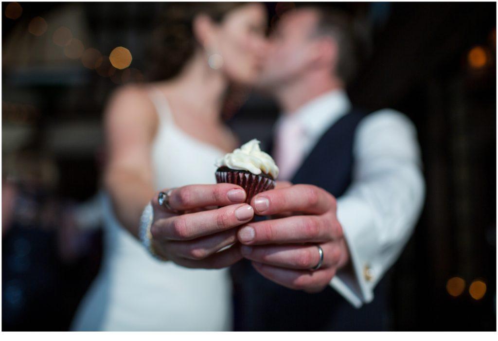 cupcake - Matt and Cait's nautical themed, York Reading Room wedding in Maine