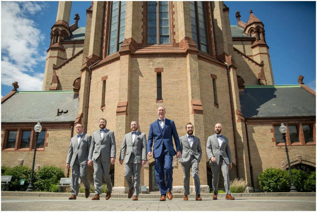 Groom and Groomsmen - A Summer Wedding at Boston's State Room