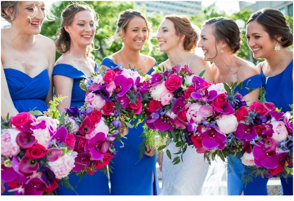 Bride and Bridesmaids - A Summer Wedding at Boston's State Room