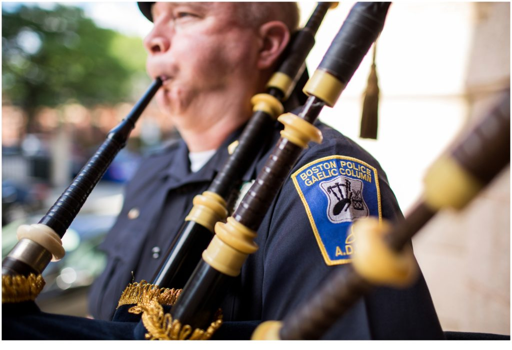 Bagpiper - A Summer Wedding at Boston's State Room