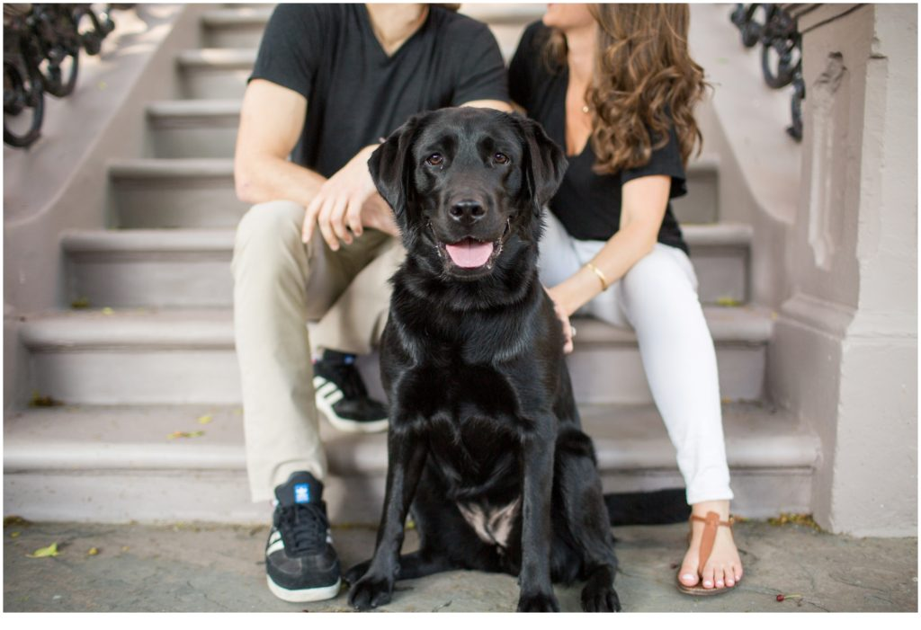 Fun Engagement Session in Boston with Winslow and Lilly