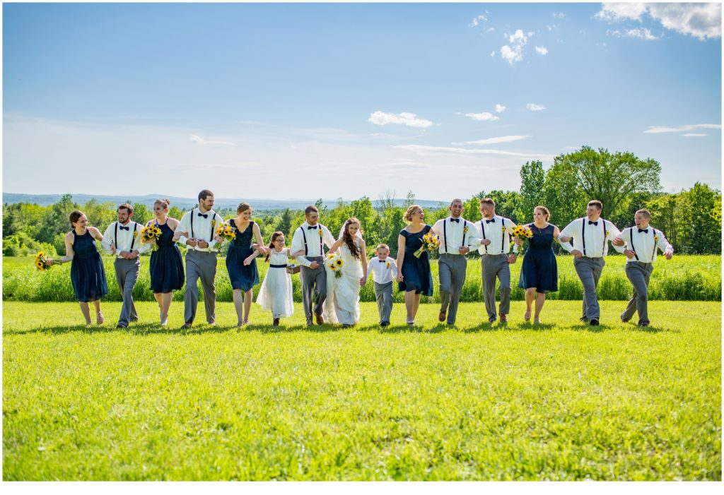 Bridal Party - Rustic, Country Maine Wedding