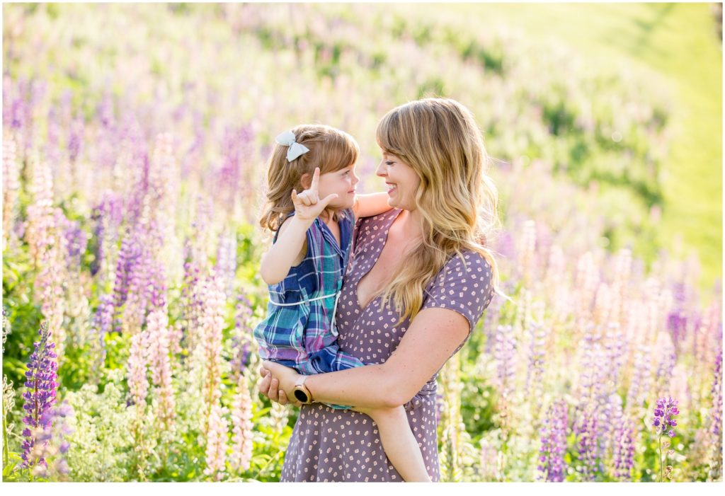 Sunny Lupine Family Session