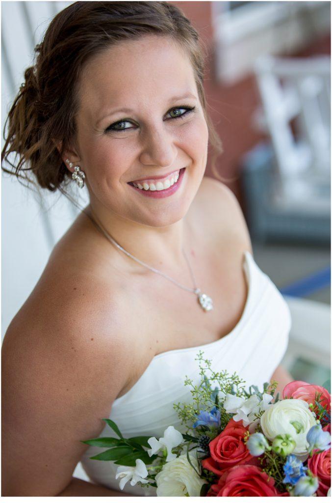 Bride Portrait - Great Diamond Island Wedding