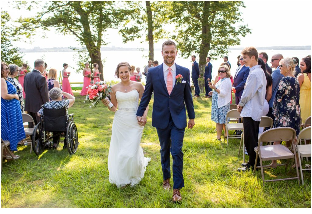 Just married - Great Diamond Island Wedding