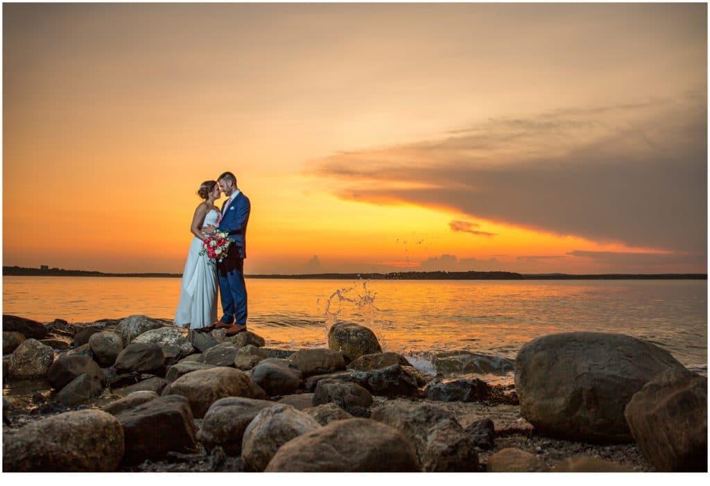 Sunset on this Great Diamond Island Wedding