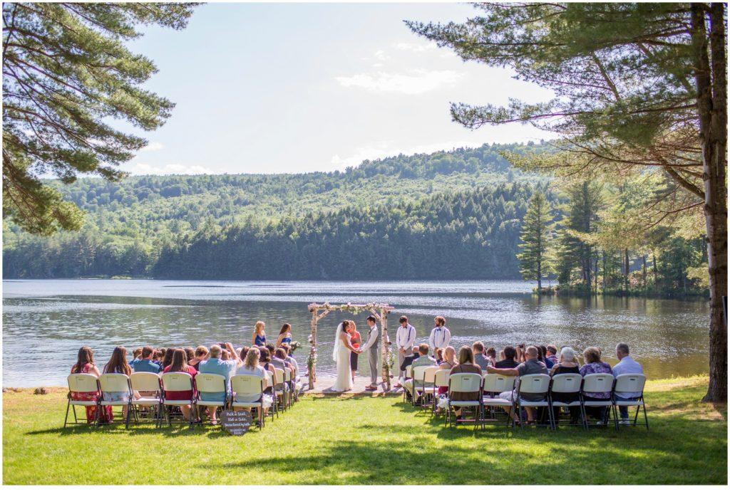 Maine Mountain wedding | ceremony