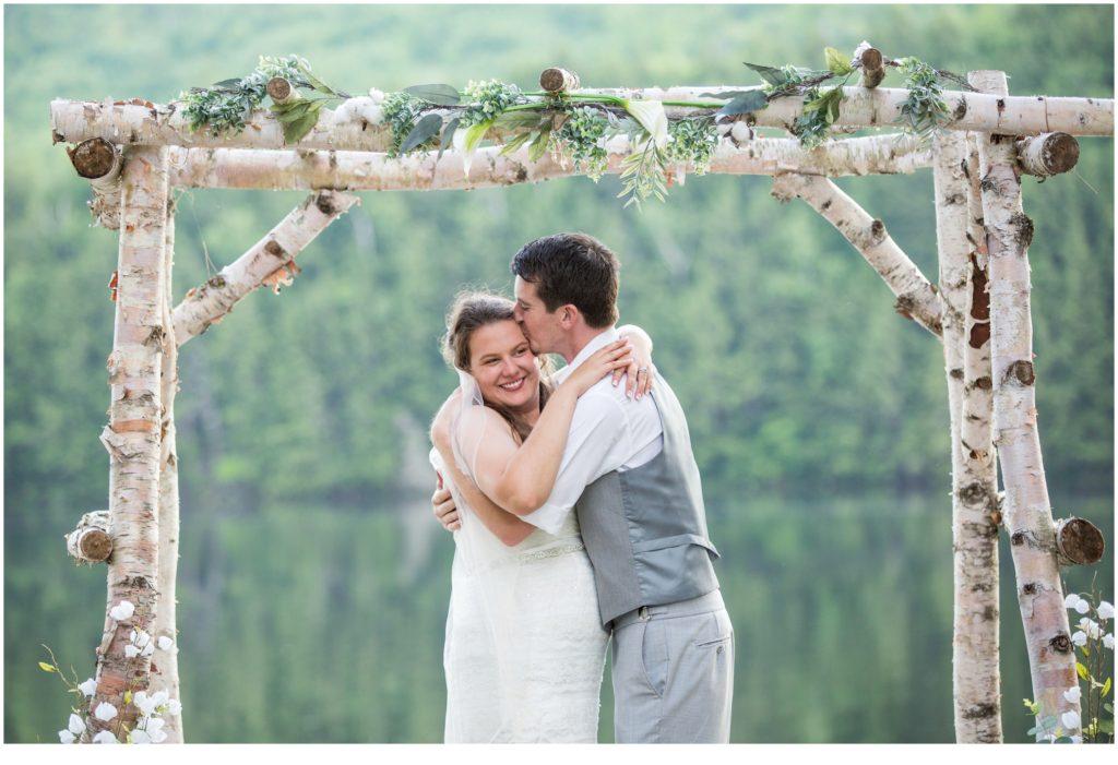 Maine Mountain wedding | Bride and groom