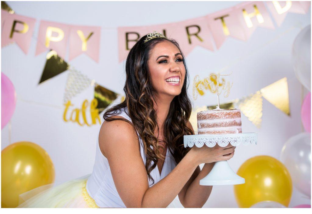 Chrysten's 40th Birthday Cake Smash