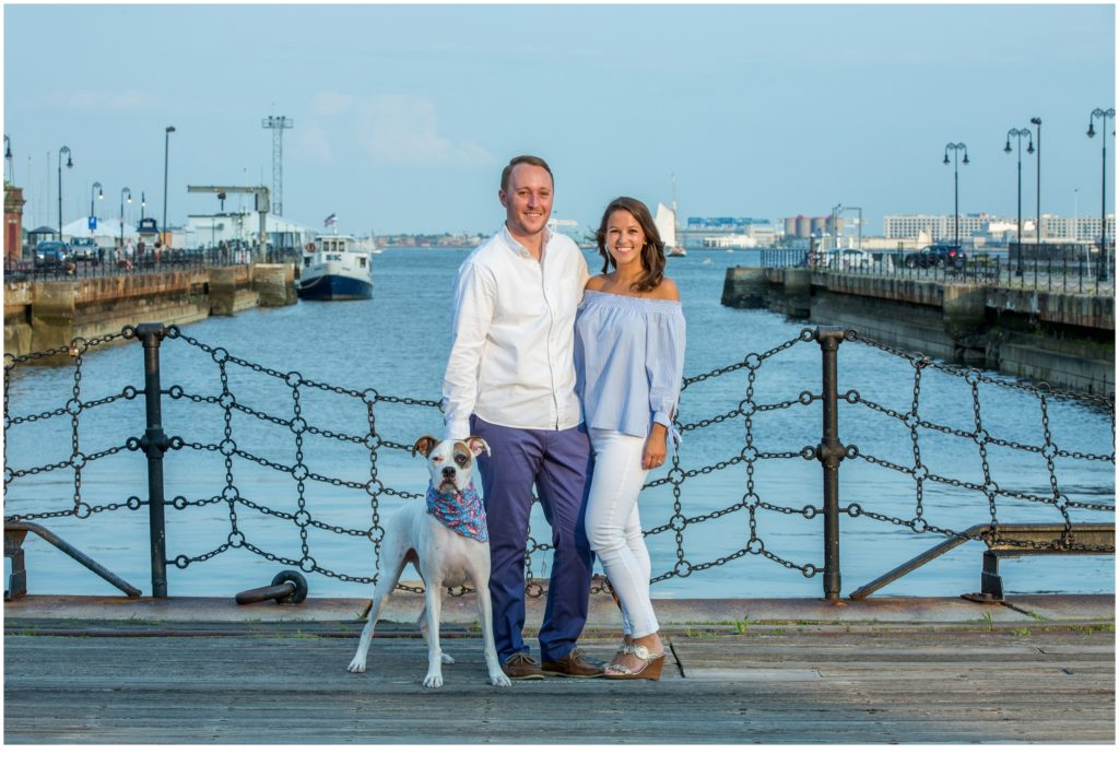 Beautiful Boston Engagement of Hannah, Kyle, and their dog Brutus