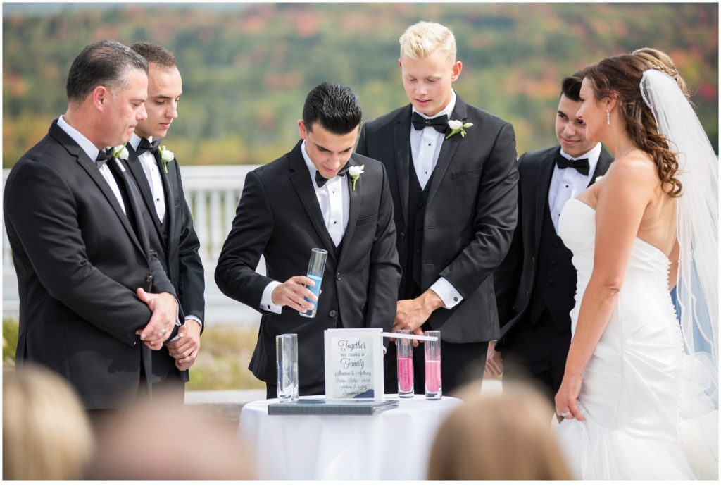 Sand Ceremony - An Omni Mount Washington Resort Wedding for a Blended Family