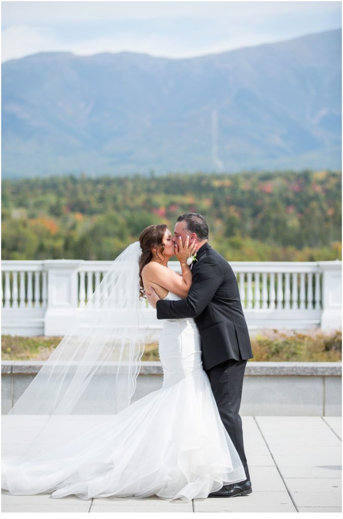 The Kiss - An Omni Mount Washington Resort Wedding for a Blended Family