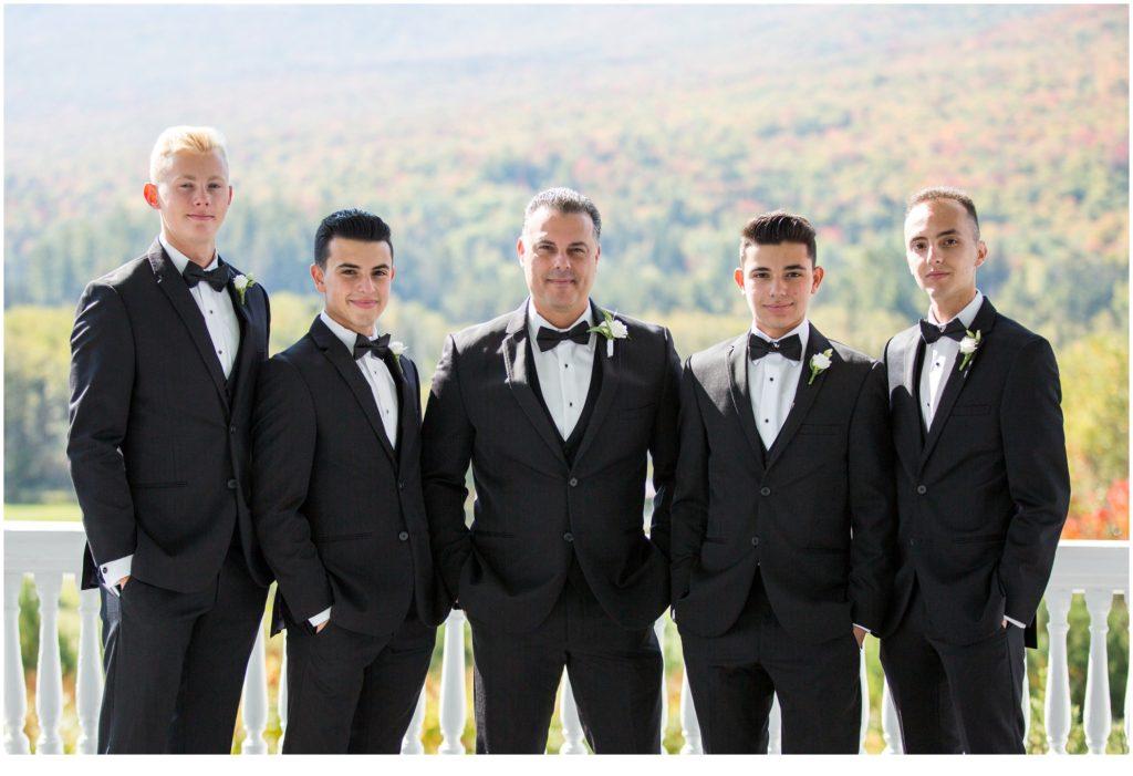 Groom and Groomsmen - An Omni Mount Washington Resort Wedding for a Blended Family