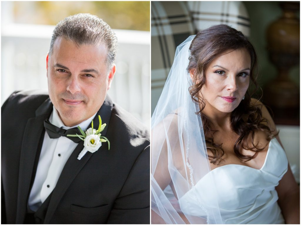 Bride and Groom portraits - An Omni Mount Washington Resort Wedding for a Blended Family