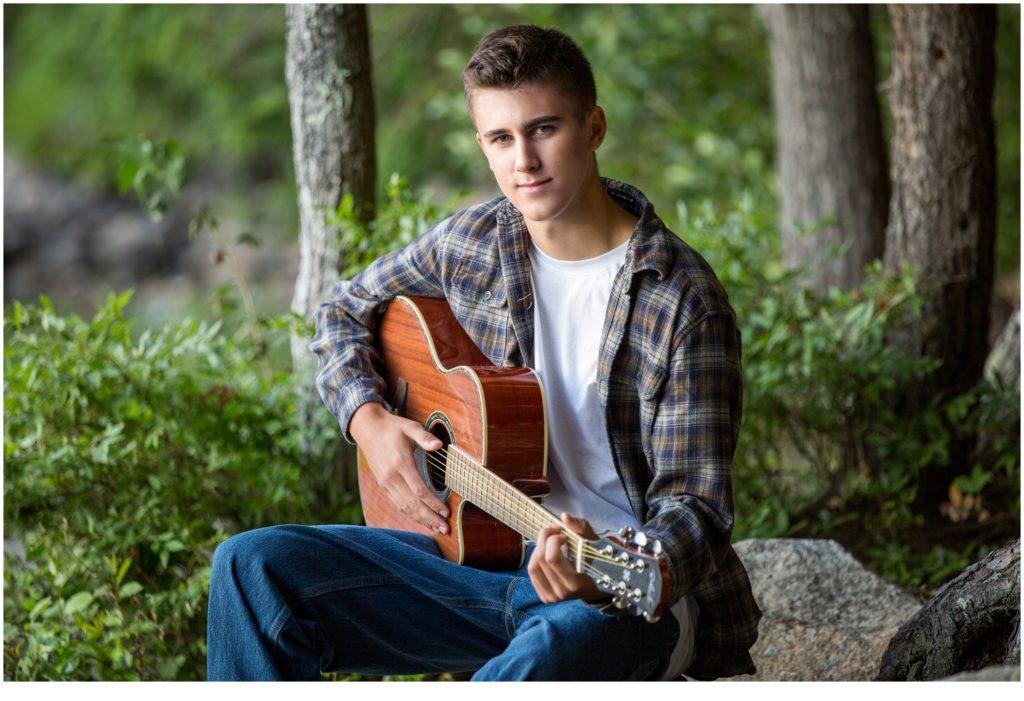 Luke Playing Guitar Class of 2021