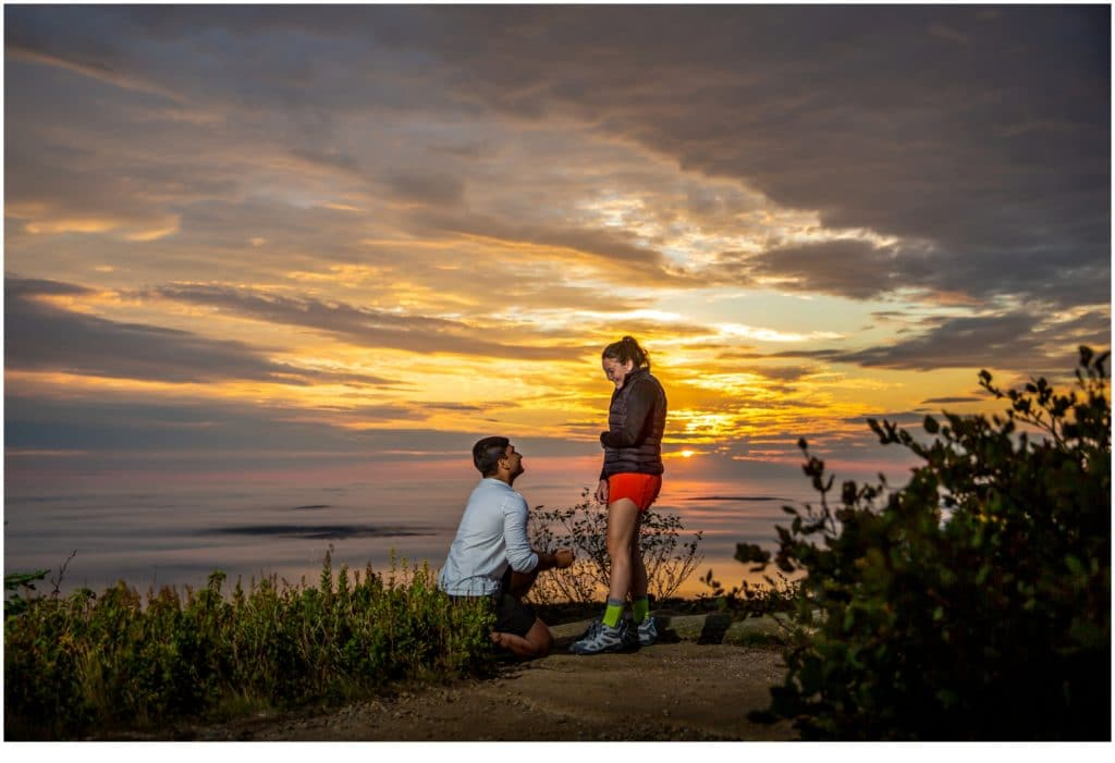 Cadillac Mountain Sunrise Proposal