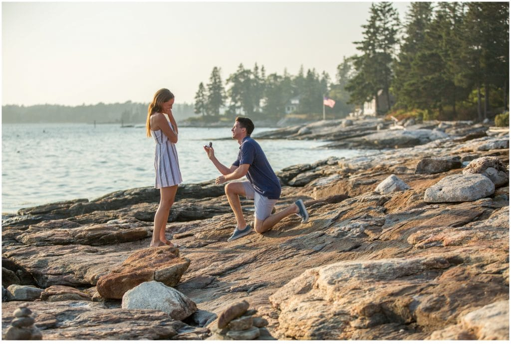 Marc and Katie, Spruce Point Inn Proposal