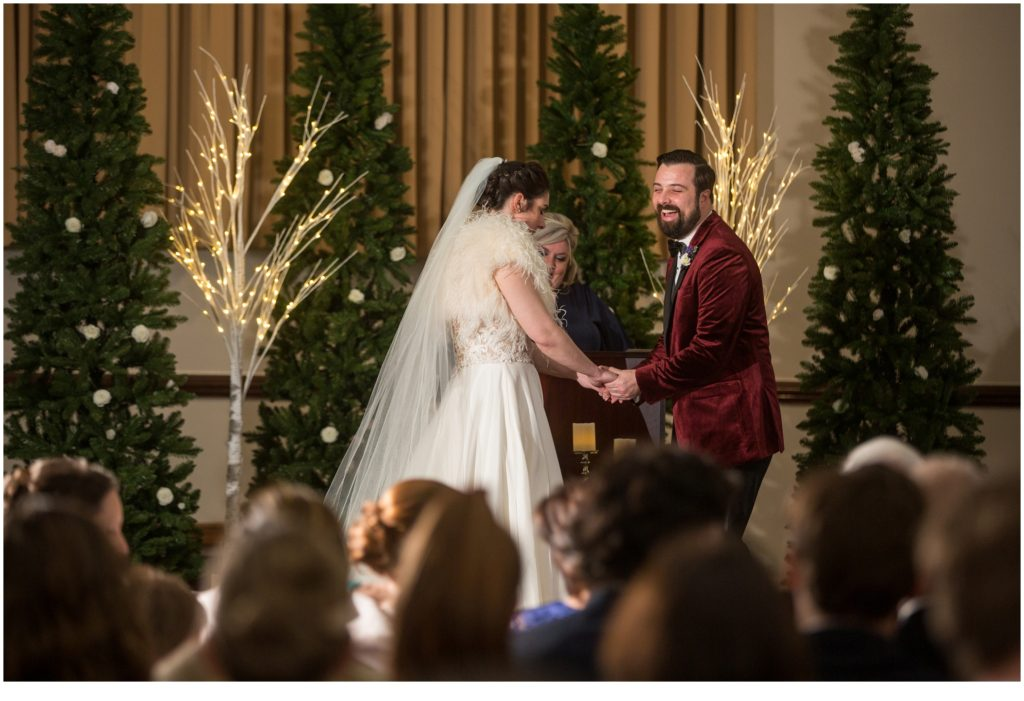 At the alter - A Vintage-Inspired Winter Wedding at Agora Grand