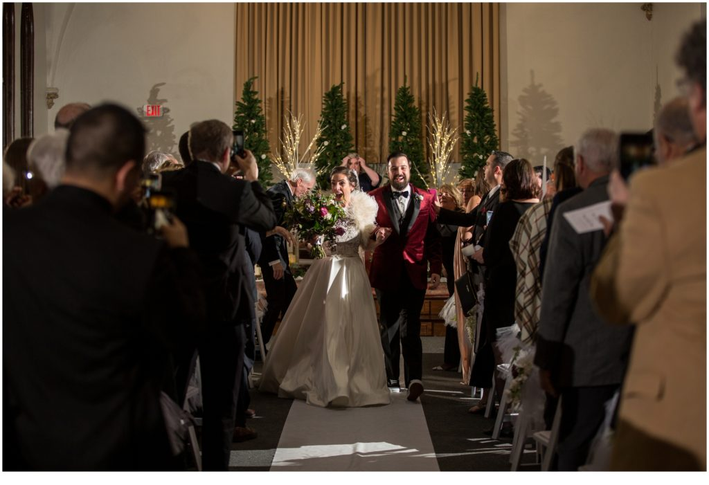Coming down the aisle - A Vintage-Inspired Winter Wedding at Agora Grand