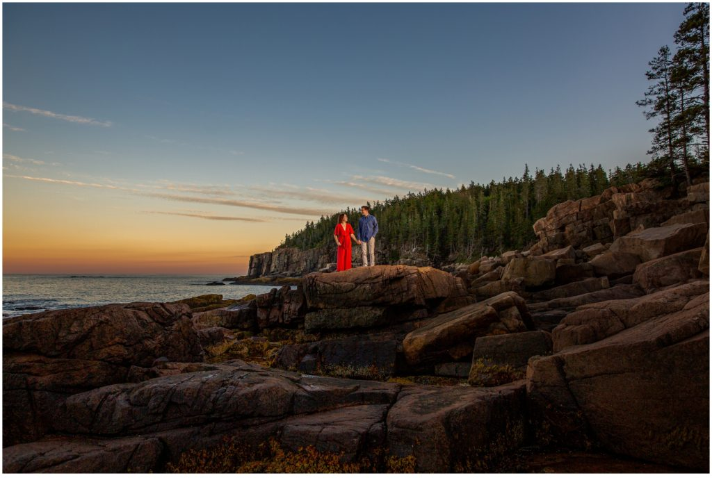Sunset Proposal in Acadia