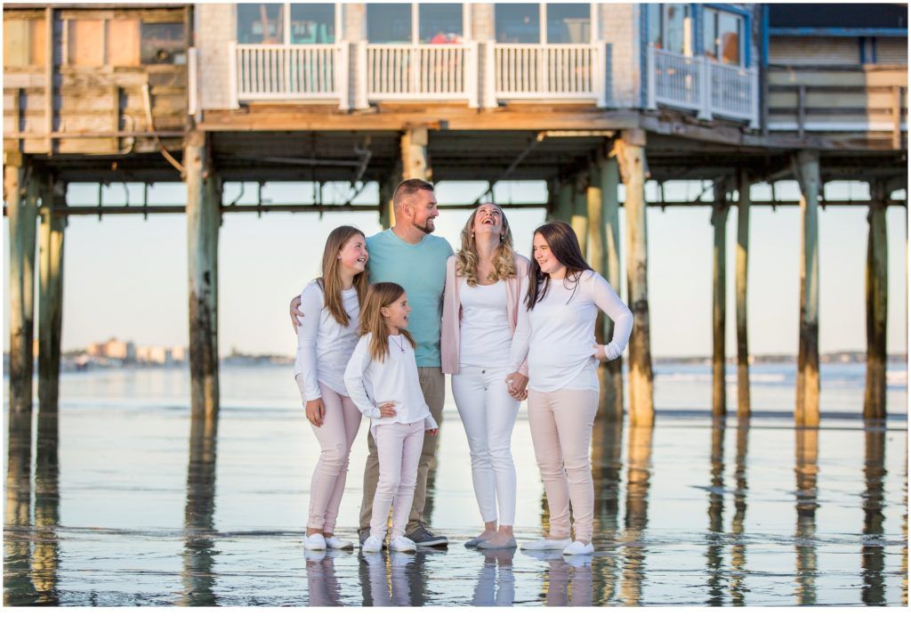Blended Family Photos on Old Orchard Beach