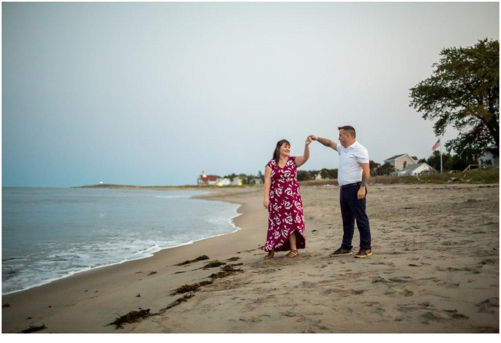 Popham Beach Engagement