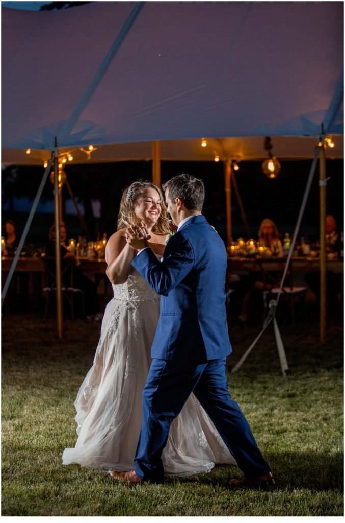A Socially Distanced Wedding in Maine - First Dance