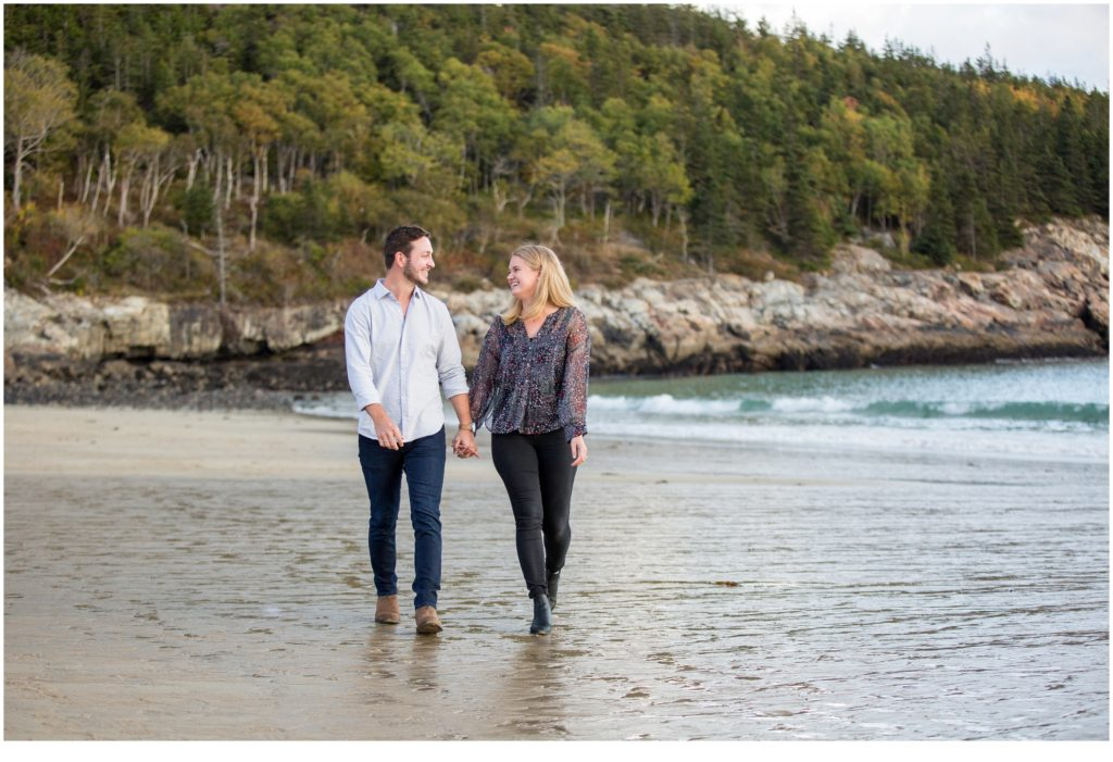 PROPOSING ON SAND BEACH IN ACADIA NATIONAL PARK